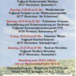 Oberkrämer Kremmen Wildkräuterführung 2019 Flyer Rückseite
